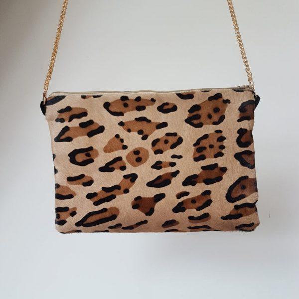 sac a main en cuir leopard
