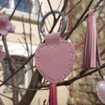 porte-cle-coeur-rose