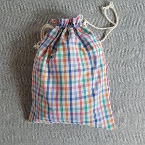pochon en tissu recyclé